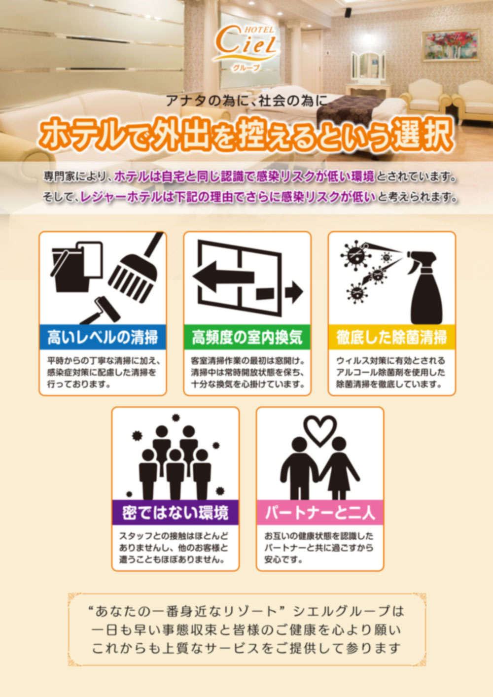 新型コロナウィルス感染予防について